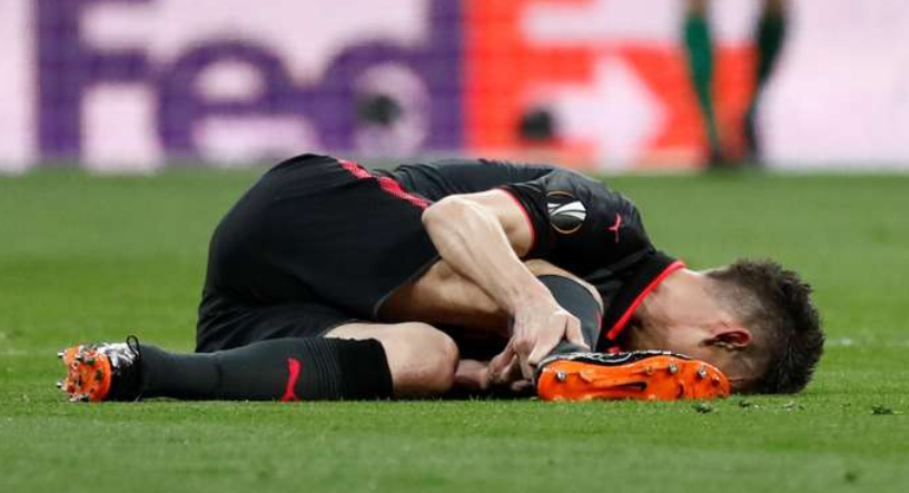 Rupture du tendon d'Achille de Laurent Koscielny